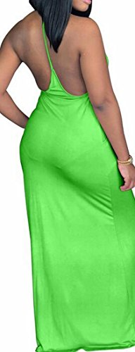 Sexy Maxi Solid Pocket Backless Halter 1 Casual Dress Loose Womens Domple x1qnIAZ7