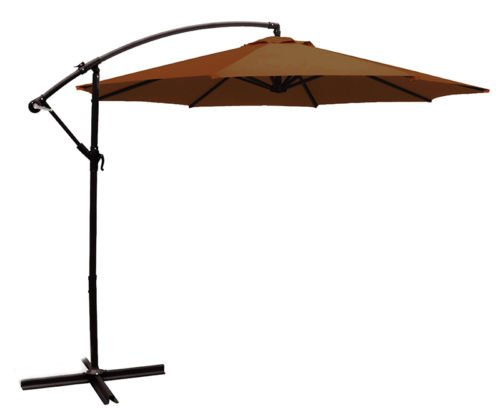 10ft out door deck Patio Umbrella Off set Tilt Cantilever Hanging Canopy brown - Winston Contemporary Print
