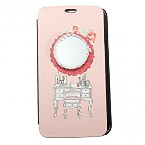 Dressing Table with Mirror Filp Leather Case for Samsung Galaxy S5