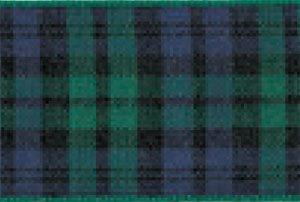 Berisfords Essentials R762210/9 | Black Watch Woven Tartan Ribbon | 25m x 10mm (Tartan Mm 10 Ribbon)