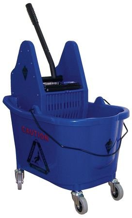 Tough Guy 5CJK1 Mop Bucket/Wringer, Blue, 35Qt. by Tough Guy