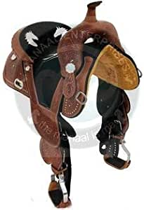 """Details about  / Premium Leather Western Barrel Racing Horse Saddle Tack Set Size 11/"""" to 12/"""""""