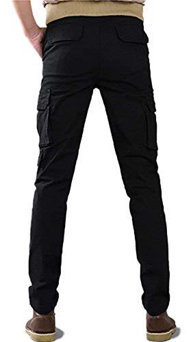 Pantalones Chino Airborne Ejército Casual Negro Pantalones Skinny ...