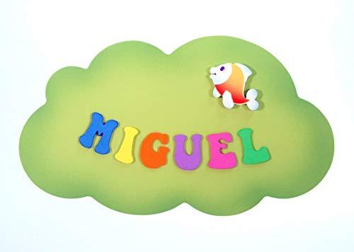 Placa Cartel decorativo infantil de madera forma de *nube ...