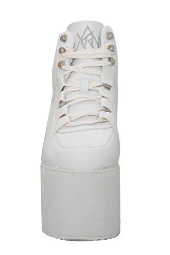 YRU Qozmo Hi-White Platform Sneakers by Y.R.U. (Image #1)