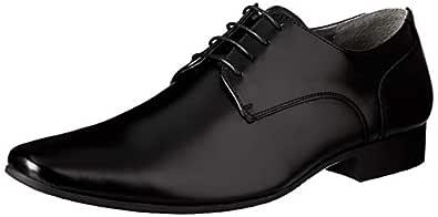 Julius Marlow Mens Grand Lace-Up Flats (Men), Black (Black), 6 AU