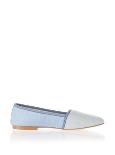 Jonny's Vegan Damen Schuhe Ballerina AJ1416 Espadrilles Montblanc blau (blue)