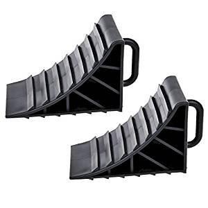 2 x calces de rueda con freno de mango cuñ as caravana remolque MSA