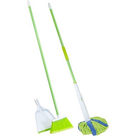 Lysol Broom with Dustpan & Microfiber Cone Mop Value Pack, 3 pc (Lysol Cone Mop compare prices)