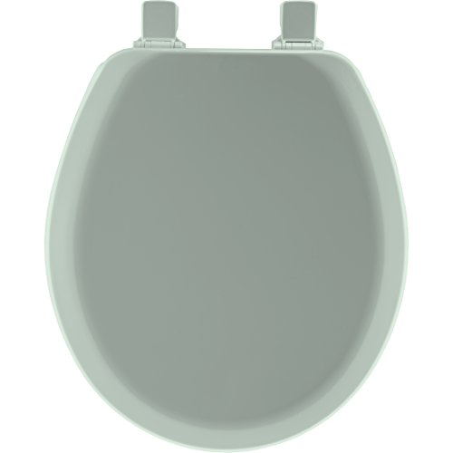 Mayfair Molded Wood Toilet Seat with Easy Clean & Change Hinges and STA-TITE Seat Fastening System, Round, Seafoam, 41EC - Mayfair Center