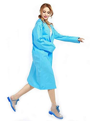 Eva Giacca Semplice Blau Tinta Unita Haidean Antipioggia Da Impermeabili Adatto Abbottonare In Glamorous Trasparente Donna All'ambiente Impermeabile Pioggia Pantaloni 0RqwEqv