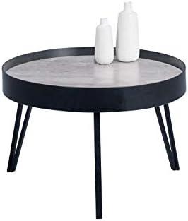 Aanbiedingen HomeTrends4You Julian 2 salontafel/salontafel, metaal, grijs, zwart, diameter = 60, hoogte = 41 cm  Jw481x2