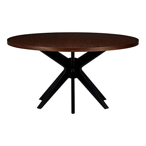 "Ethan Allen Hazelton Midcentury-Modern Round Dining Table, 60"" Diameter, Downtown"