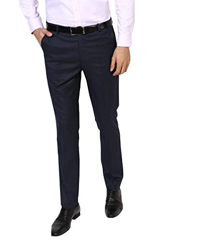 Cliths Trousers for Mens Office Wear/Navy Blue Formal Pants for Men Cotton