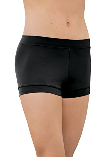 Balera Shorts Girls Booty Shorts for Dance Womens Banded Bottom Spandex Bottoms Black
