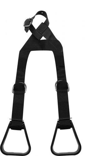 Showman Heavy Duty Adjustable Nylon Little Buddy Helper Stirrups (Black)