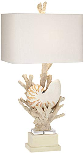- Nautilus Shell and White Coral Table Lamp by Kathy Ireland