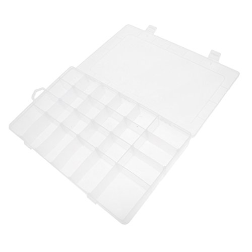 MagiDeal Storage Box Dividers Removable Large 24 Grids Adjustable Organizer Clear by Unknown