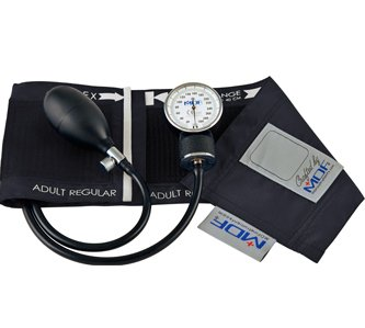 MDF Calibra Aneroid Sphygmomanometer - Professional Blood Pressure Monitor with Adult Sized Cuff Included - Black - Blood Stethoscope Monitor Pressure