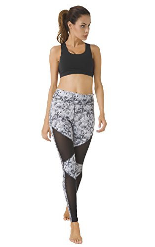 Queenie Ke Mujer Yoga Deportes Running Gym tiras del sostén acolchado extraíbles Negro