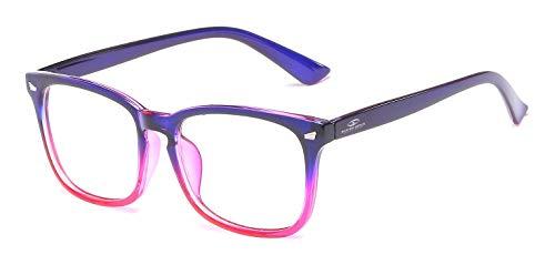 Blue Ray Optics Women's Unisex Blue Light Blocking Computer Glasses - Modern & Stylish (Mauve)