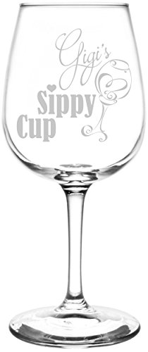(Personalized & Custom (Gigi) Funny Sippy Cup Novelty Present & Gift Idea Inspired - Laser Engraved 12.75oz Libbey All-Purpose Wine Taster)