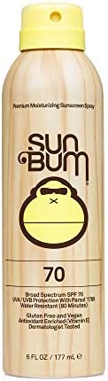 Sun Bum Original SPF 70 Sunscreen Spray  Vegan and Reef Friendly (Octinoxate & Oxybenzone Free) Broad Spec