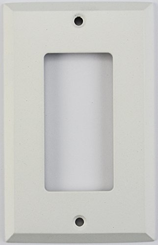 Classic Accents Painted Stamped Steel Switch Plates - (1 Gang GFCI/Rocker Opening, White)