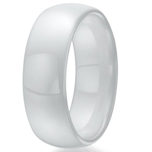 Ceramic Ring (8mm White Ceramic Ring (6))