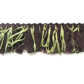 Loop Ribbon Fringe Trim Eggplant Multi ()