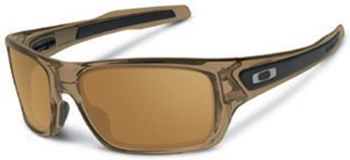 Oakley Men's Turbine 0OO9263 Rectangular Sunglasses, BROWN SMOKE Dark Bronze, 65 - Sunglasses Oakley Brown