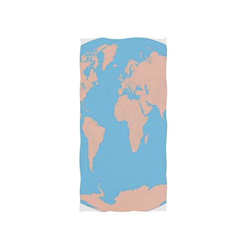 Printable World MAPS Towels Washcloths Baby Toddler Kids Boys Girls Women Man for Home Kitchen Bathroom Spa Gym Swim Hotel -