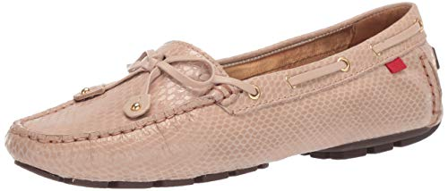 - Marc Joseph New York Womens Genuine Leather Cypress Hill Loafer Driving Style, blush snake 7.5 M US