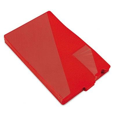 Brand New Smead Out Guides With Diagonal-Cut Pockets Poly Legal Red 50/Box