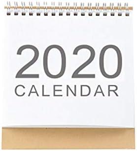 Ruikey Tischkalender 2020,Quer-Format Schreibtisch-Kalender fürs Büro und Zuhause,Kraftpapier,20.3 * 15.1 CM