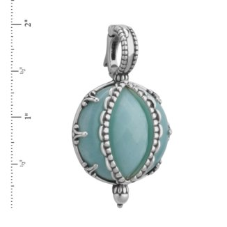 Relios Sterling Silver Faceted Amazonite Pendant Enhancer