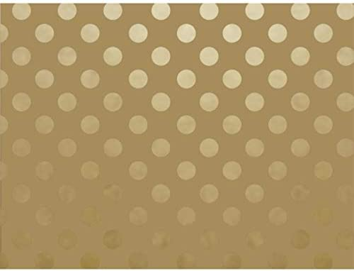 """Metallic Gold on Gold Dots 30"""" x 150' Gift Wrap Roll"""