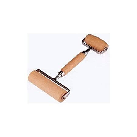 Norpro Double Pastry Roller Deluxe Wooden For Pasta Pie Pizza