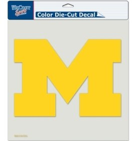 "NCAA Michigan Wolverines Die-Cut Color Decal, 8""x8"", Team Co"