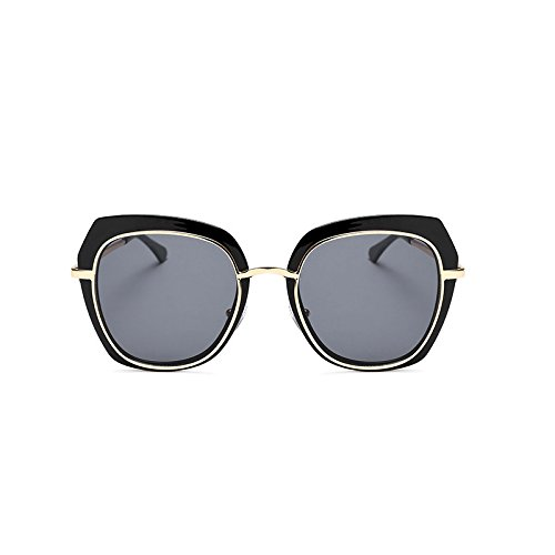 Femmes Black de Blue Couleur UV Transparent de Soleil Lunettes Sunglasses Black Color Soleil Générique Sunglasses Film Sunglasses Lunettes Box pour Square New Box Ash H6nWRq0nI