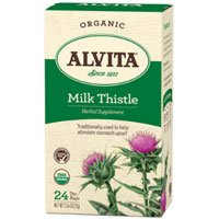 Alvita Teas Organic Herbal Tea, Milk Thistle 24 BAGS (Pack of 2)