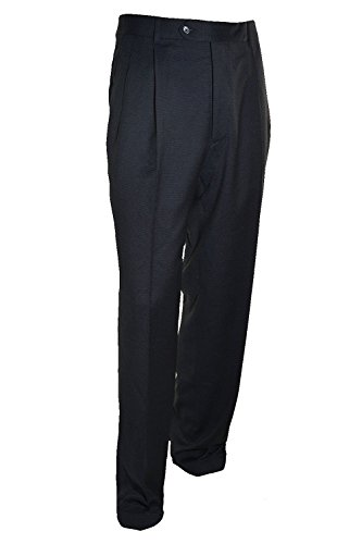 Kirkland Mens Pleated Italian Wool Dress Slacks - Navy (34 x 32)