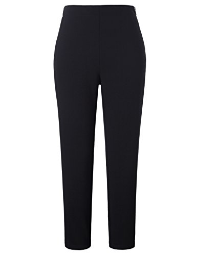Chicwe Women's Stretch Skinny Fit Crop Length Plus Size Work Pants Black 24 by Chicwe