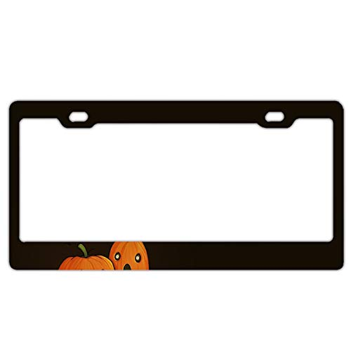 KSLIDS Holiday Halloween Pumpkin Auto License Plate Sign Tag Size Home Pub Bar Decor 6 X 12 -
