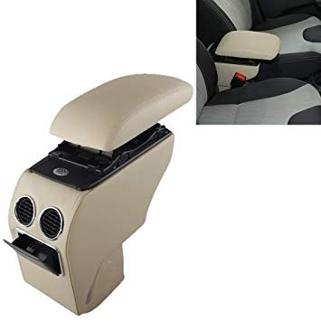 Uniqus Car ABS Leather Wrapped Armrest Box with Fast Charge USB Holes and Cables for Changan Suzuki Alto