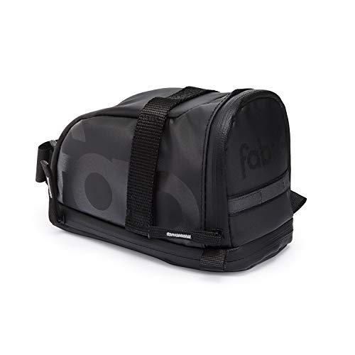 Fabric Contain Saddle Bag Black, L