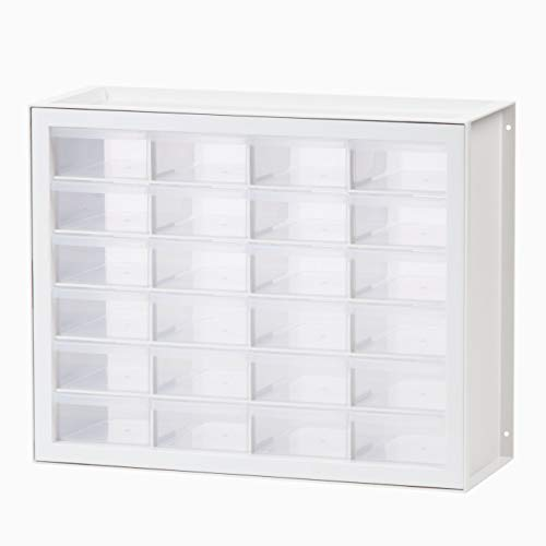 IRIS USA, Inc DPC-24 24 Drawer Sewing and Craft Parts Cabinet, White