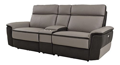 Homelegance Laertes Two Tone Power Reclining Loveseat With