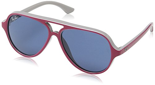 Ray-Ban Junior Kids Sunglasses - RJ9049S Aviator / Frame: Top Red/Fuchsia on Gray Lens: Blue (Ray Ban Kids Frames compare prices)
