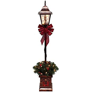 Amazon.com: Holiday Lamp Post Christmas Home Decor Indoor Outdoor ...